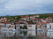 Milna on the island Brac in the Mediterranean Royalty Free Stock Image