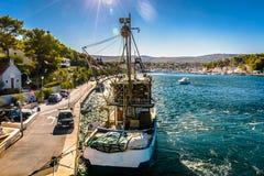 Milna town in Croatia, Europe. Stock Photo