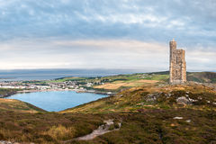 Milners Tower and Port Erin bay Stock Images