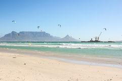 Milnerton Beach in Cape Town Royalty Free Stock Images