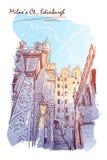 Milneshof geschilderde schets royalty-vrije stock foto's