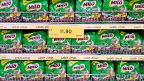 Milo sur l'étagère image stock