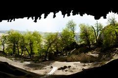 Milodon grotta - Chile royaltyfria bilder