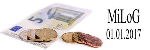 MiLoG, 01 01 2017, nowa minimalna pensja w Germany, 34 centu bardziej Zdjęcie Stock