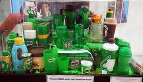 Miloinzameling van flessen royalty-vrije stock afbeelding