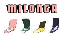 Milonga poster Royalty Free Stock Photos