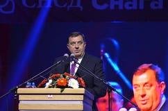 Milorad Dodik talar fans i gräns efter möte och folkomröstning Arkivfoto