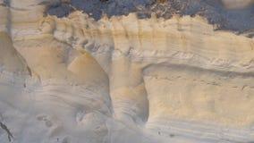 MilosöGrekland detalj av den Sarakiniko stranden arkivfoton