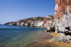 Milos остров, Киклады Стоковые Изображения