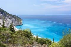 Milos Beach, Lefkada, Greece Royalty Free Stock Image