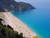 Milos beach on Lefkada Royalty Free Stock Image