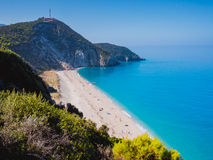 Milos beach on Lefkada Royalty Free Stock Image