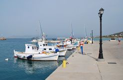 Milos harbour, Agistri island Royalty Free Stock Photography
