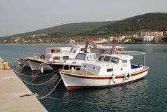 Milos harbour, Agistri Stock Photo