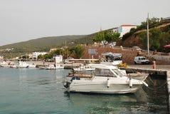 Milos harbour, Agistri Stock Photography
