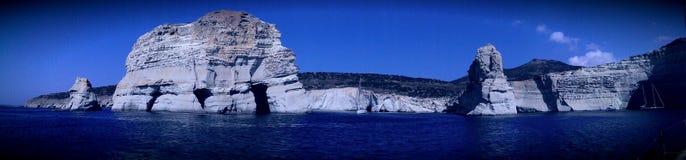 Coastline of Milos island Royalty Free Stock Photo