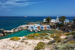 Milos island - Cyclades, traditional fishing village Royalty Free Stock Photography