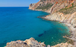 Milos island east coast seascape, Greece Royalty Free Stock Photography