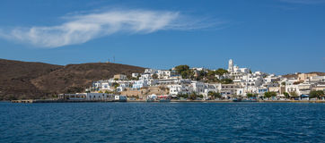Milos island, Greece. Panorama view from the sea. Travel. Royalty Free Stock Image