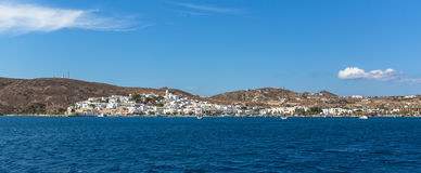 Milos island. Panorama view from the sea. Royalty Free Stock Photos