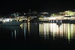 Milos na noite Fotografia de Stock