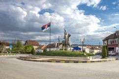 Milos Obilic Monument - Gracanica Kosovo Arkivbild