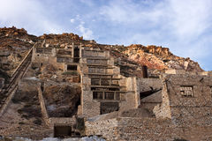 Milos, the old Thiorichia mine, Sulfur-processing plant. Cyclades islands Stock Image
