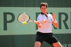 Milos Raonic - French open 2012 Stock Photo