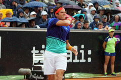 Milos Raonic (POSSA) Foto de Stock Royalty Free