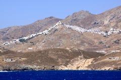 Milos village on top of mountain Royalty Free Stock Image