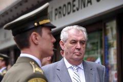 Milos Zeman Royaltyfri Foto