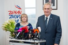 Milos Zeman and Ivana Zemanova Royalty Free Stock Images
