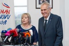Milos Zeman and Ivana Zemanova Royalty Free Stock Photo