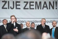 Milos Zeman, Martin Konvicka, Marek Cernoch Photographie stock
