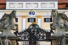 Milotice大别墅入口门在捷克 库存照片