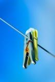 Milou, chevilles de lavage colorées Image libre de droits