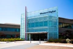Milpitas CA, USA - Maj 21, 2018: Byggnad av ett Western Digital korporationskontor WDC Arkivbilder