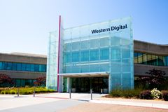 Milpitas, CA, USA - May 21, 2018: Building of a Western Digital Corporation office. WDC. An American computer data storage company and the largest computer Royalty Free Stock Image