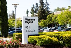 Milpitas, CA, USA - May 21, 2018: Building of a Western Digital Corporation office. WDC Stock Photo