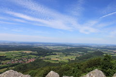 Milseburg vista. The distant view from the Milseburg hilltop Royalty Free Stock Images
