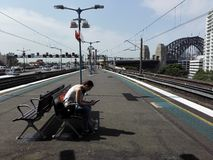 Milson`s point train station Royalty Free Stock Photography
