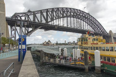 Milsons Point Ferry wharf stock photography