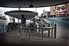 Milsons Point ferry wharf Royalty Free Stock Photos