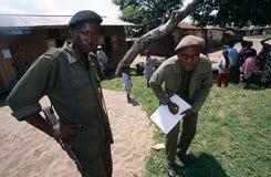 Miltary men in Rwanda. Royalty Free Stock Images