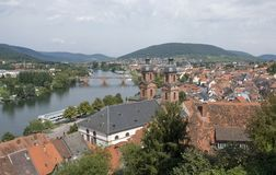Miltenberg aerial view in sunny ambiance Stock Photo