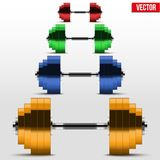 Milticolor classic power dumbbells Royalty Free Stock Images
