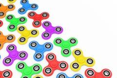 Milticolour-Unruhe-Finger-Spinner-Antistress Spielzeug Wiedergabe 3d Lizenzfreie Stockbilder