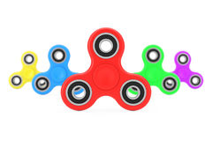 Milticolour-Unruhe-Finger-Spinner-Antistress Spielzeug Wiedergabe 3d Stockfoto
