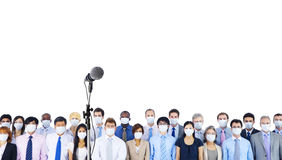 Miltiethnic Business people wearing masks Royalty Free Stock Image
