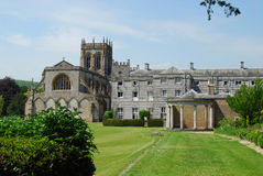 Milton Abbey & School. Milton Abbey and School with cricket pitch in Dorset England Stock Image